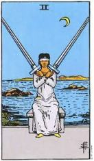 II of Swords Rider Waite Smith