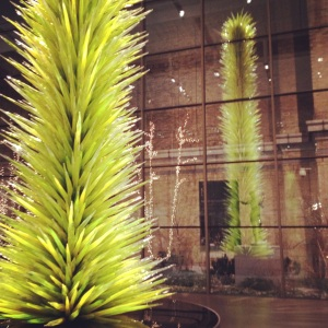 Lime Green Icicle Tower, Dale Chihuly