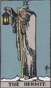 The Hermit Rider Waite Smith deck