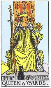 Queen of Wands Rider Waite tarot