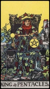 King of Pentacles Rider Waite deck