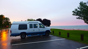 Lady Van glamour shot at the beach on Lake Michigan.