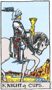 Knight of Cups Rider Waite deck