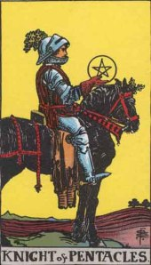 Knight of Pentacles Rider Waite tarot