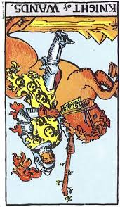 Knight of Wands rx Rider Waite Smith tarot
