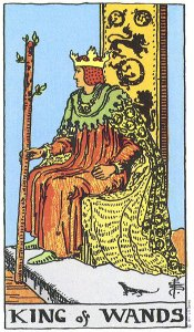 King of Wands Rider Wait Smith tarot