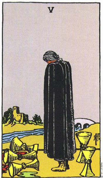 V Of Cups The Willow Path Tarot