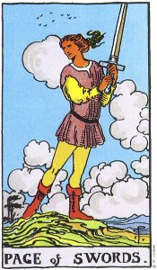 Page of Swords Rider Waite Smith deck