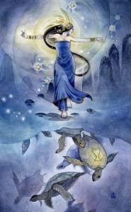 Queen of Cups Shadowscapes Tarot