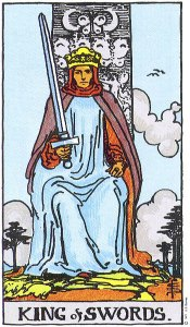 King of Swords Rider Waite Smith tarot