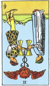 II of Cups rxed Rider Waite Smith tarot