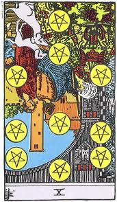 X of Pentacles rxed Rider Waite Smith tarot