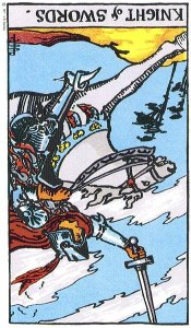 Knight of Swords rxed Rider Waite Smith Tarot