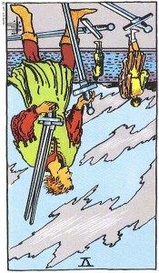 V of Swords reversed Rider Waite Smith tarot