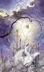 VIII of Swords Shadowscapes tarot