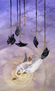 VI of Swords rx Shadowscapes tarot